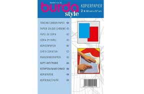 BURDA TRACING CARBON PAPER BLUE-RED